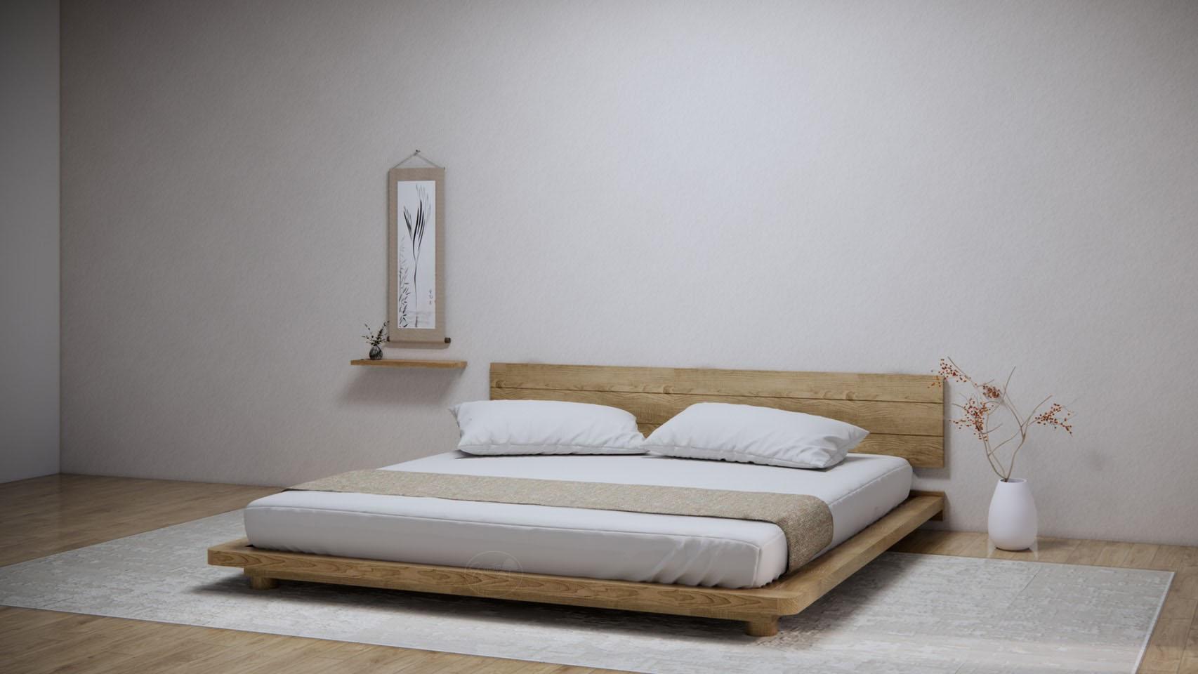 KR113-2 Muji Bed-2 -เตียงมินิมอล มูจิๆ ขากลมเตี้ย