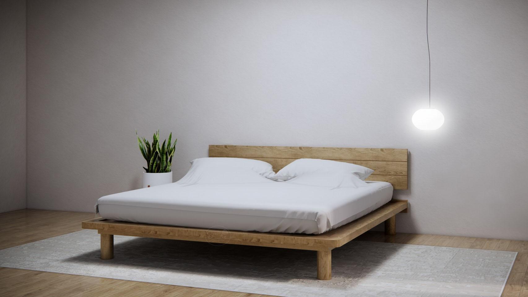 KR113 Muji Bed-เตียงมินิมอล มูจิๆ ขากลมสูง