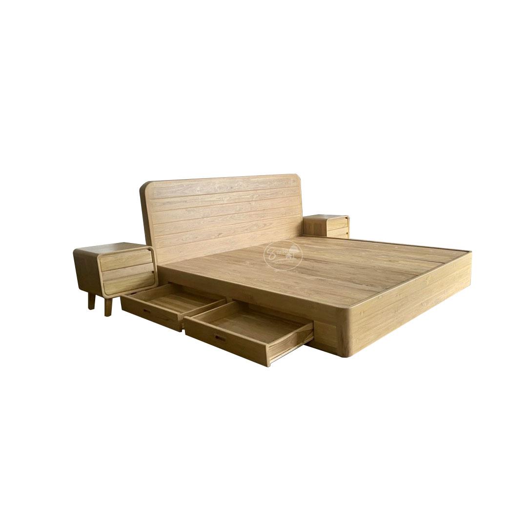 KR107-2 เตียงหัวโค้งมีลิ้นชัก