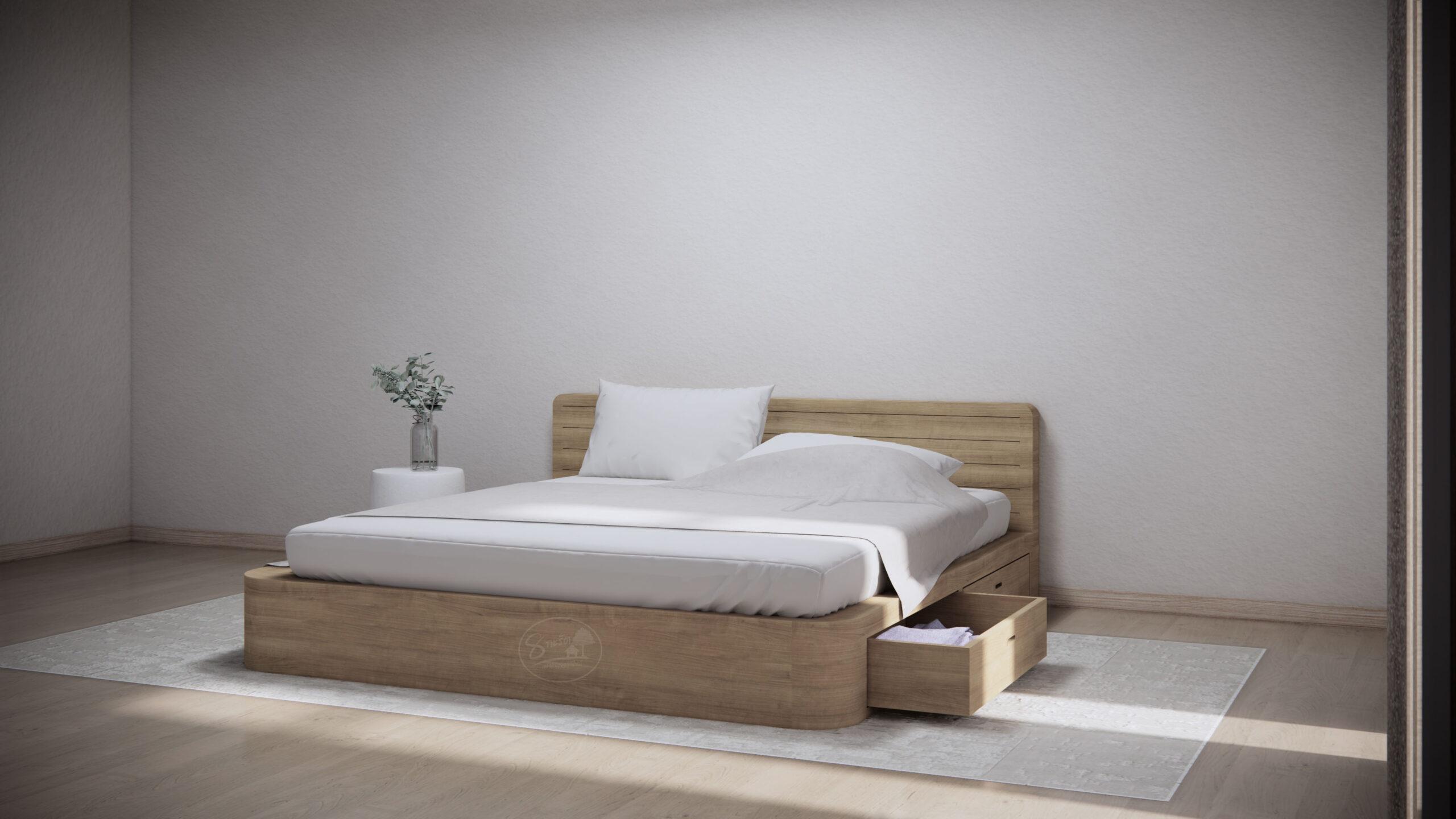 KR105-2 Curve Bed w Drawer 🪐 เตียงนอนโค้งมีลิ้นชัก 🪐